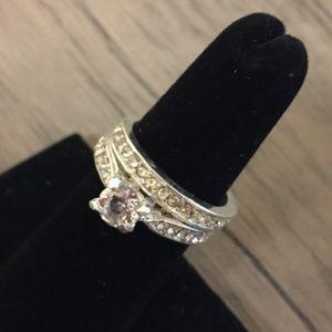 Cubic Zirconia Wedding Band Ring